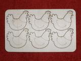 Výřez SLEPIČKA 6ks v sadě- v.3,5x4cm