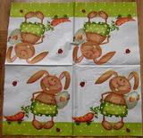 VEL 016 - ubrousek 33x33 - zajíc s mrkví na vozíku