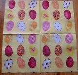 VEL 027 - ubrousek 33x33 - vejce na žlutém