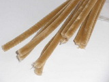 Plyšový drátek 0,8cm/30cm sv.hnědá