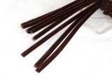 Plyšový drátek 0,8cm/30cm červenohnědá
