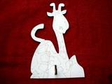 2DV012 - 2D dekorač.věšák ŽIRAFA 22x14cm