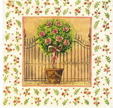 ZA 118 - ubrousek 33x33 - růže na kmínku