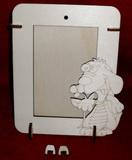 2v1 rámeček na výšku fota 10x15cm - PEJSEK S KYTKOU