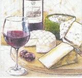 KM 082 R2S - ubrousek 33x33 - víno+sýr
