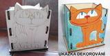 Krabička - stojánek na tužky KOČKA - 10,5x v.13x9cm