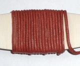 Voskovaná šňůrka červená - cena za 1m