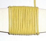 Voskovaná šňůrka světle žlutá - cena za 1m