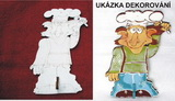 2DV008 - 2D dekorač.věšák KUCHAŘ 20x12,5cm