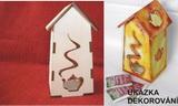 Box na čajové sáčky Domek s konévkou