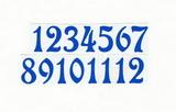 Čísla na hodiny nalepovací-ozdobná v.1,9cm SV.MODRÁ