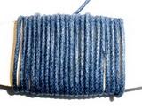 Voskovaná šňůrka tm.modrá - cena za 1m