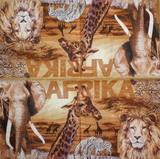 ET 030 - ubrousek 33x33 - afrika zvířata mix
