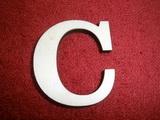 +2D výřez písmeno obyč.  v.cca 4,2cm - C