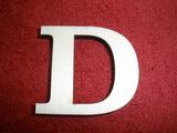 +2D výřez písmeno obyč.  v.cca 4,2cm - D
