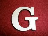 +2D výřez písmeno obyč.  v.cca 4,2cm - G