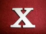 +2D výřez písmeno obyč.  v.cca 4,2cm - X