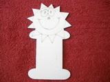 Podložka na stuhy slunce v.15,3x8,8cm