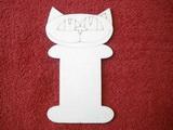 Podložka na stuhy kočka v.14,7x8cm