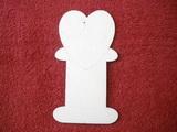 Podložka na stuhy srdce v.14,7x8cm