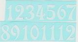 Čísla na hodiny nalepovací-ozdobná v.1,9cm BÍLÁ