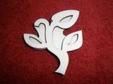 Razítko překližka tulipán zav. květ+stonek - v.6x5,3cm