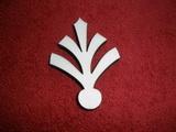 Razítko překližka znak list - v.7,2x5cm