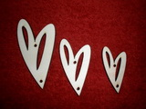 Sada girlanda 3ks - srdce-prořízlá
