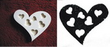 Razítko srdce-prořízlá srdíčka v. 5,7x6,7cm