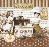 ZA 127 R2S - ubrousek 33x33 - děti chocolat