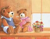 Reprodukce - tisk - v.20x25cm - medvídci I love you