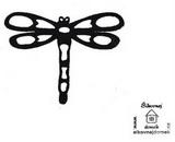 Razítko vážka - v.6,5x9cm