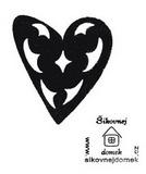 Razítko srdce-prořízlé ornamenty - 6x5cm