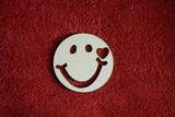 2D výřez smajlík usměváček 1srd. - pr.4cm