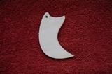 2D výřez šperk /přívěsek/ zahnutý roh -v.6,9x3cm
