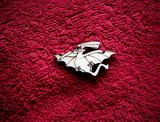 2d výřez dinosaurus pták v.2,2x4cm