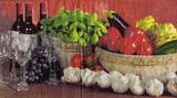 KM 047 - ubrousek 33x33 - mísa zeleniny+česnek-balení 20ks