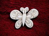 2D výřez motýlek č.3 - v.5,8x7,5cm