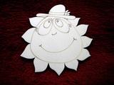 2D výřez sluníčko kluk- pr.13cm