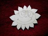 2D výřez sluníčko - v.11x14cm