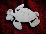 2D výřez želva- cca v-12x15,5cm