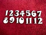 **Sada čísel na hodiny rustikum v. cca 1,8cm