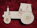 2D výřez traktor - v. cca 7,4x11,3cm
