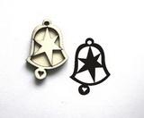 Razítko překližka zvonek hvězda-v.5x3,5cm