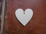 2D výřez srdce s dírkou č.1 - 2x2cm