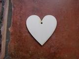 2D výřez srdce s dírkou č.1 - 3x3cm
