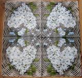 OS 172 -ubrousek 33x33 -květinové srdce