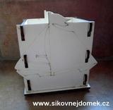 Krabička-stojánek na tužky loďka v.12,5x12,5x9cm