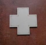 2D výřez kříž k lékárničce vel.cca 8x8cm- čistý