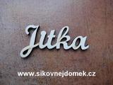 2D výřez jméno Jitka SC - vel. cca 6x12cm